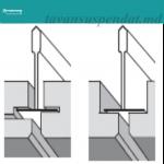 Sahara Vector — плита для подвесного потолка Armstrong с полускрытой структурой